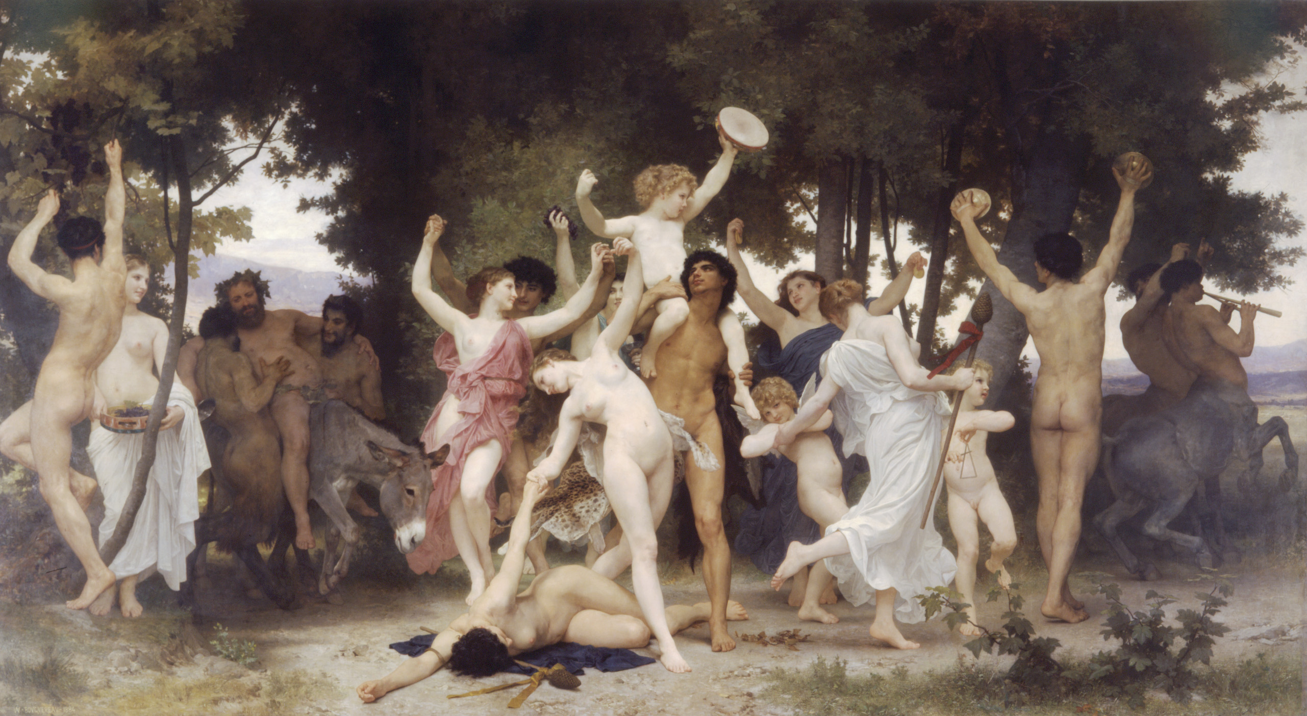"""La jeunesse de Bacchus"" par William Adolphe Bouguereau (source : Wikimedia Commons)"