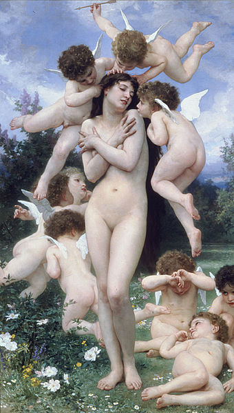 Le printemps, William Adolphe Bouguereau 'Source : Wikimedia Commons)