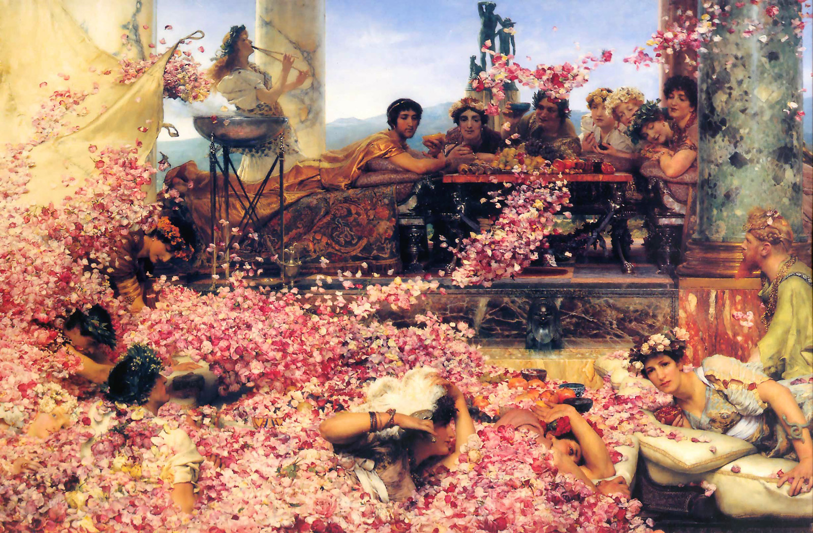 The Roses of Heliogabalus, Lawrence Alma-Tadema (Source : Wikimedia Commons)