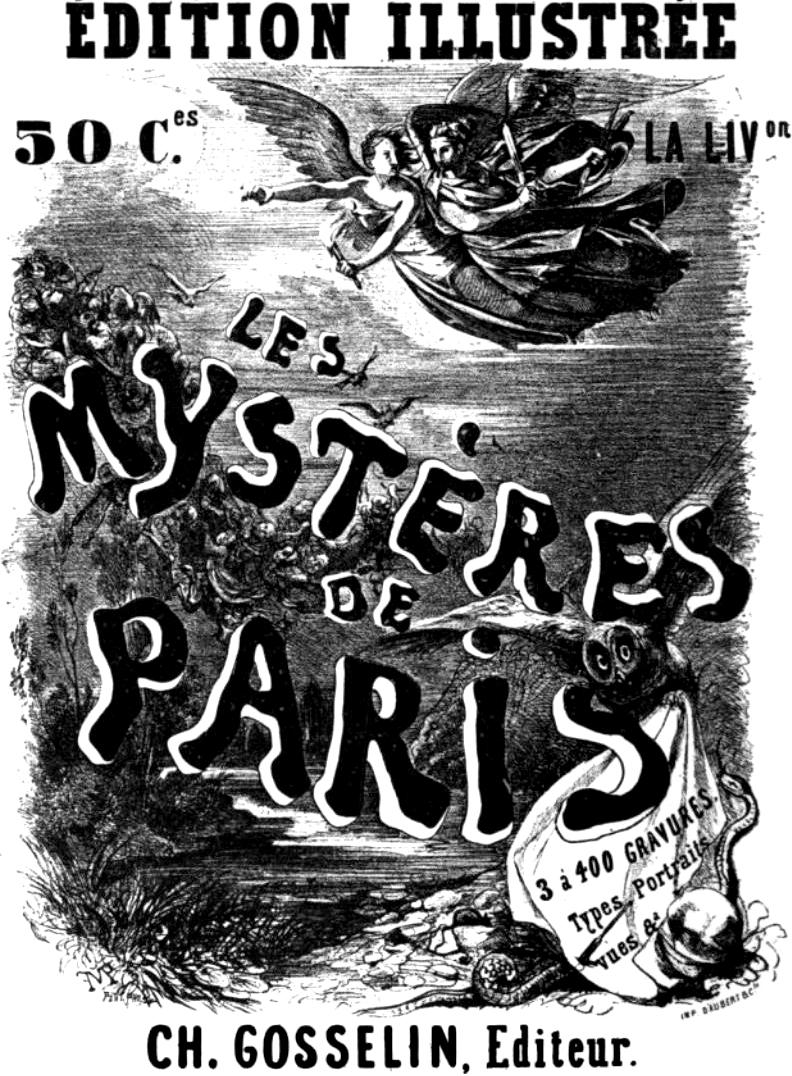 Annonce des Mystères de Paris By Unnown (Octave Uzanne, Le Livre, Paris, A. Quantin, 1884.) [Public domain], via Wikimedia Commons