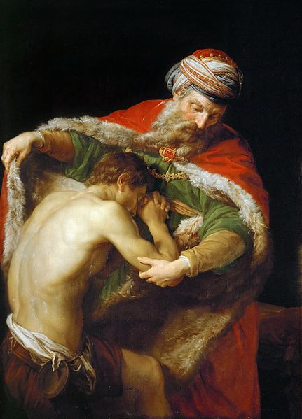 Retour du fils prodigue, par Pompeo Batoni [Public domain], via Wikimedia Commons